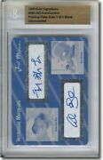 Hong-chih Kuo Alex Gordon Autograph Rookie Auto Plate Rc Bgs 1/1