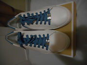 Irving Lace Up Optic/sky Leather Sneakers Us 10m Preowned