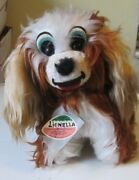 Vintage Lionella Brazil Cute Hard Plush Dog 12 Tag In Ear And Hang Tag