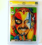 Foom 17 Stan Lee Cover Signed By Stan Lee 1977 Kiss Preview Rare Cgc 5.5