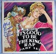 Mel Brooks Signed Itand039s Good To Be The King Rap Part 1 And 2 Lp Dc/coa Inscribed