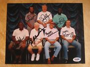 Sparky Anderson Marty Brennaman Multi 7 Signed Autographed 8x10 Photo Reds Psa