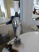 New Price Original Mortar Shell Mounted Table Lamp. Probably Wwii European.
