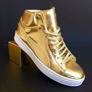 Undftd 24k Mid Mirror Gold Edition Sneakers Size 9.5