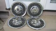 1964-1966 Pontiac Gto Lemans Tempest Spinner Wire Hubcap Wheel Cover Set/oem 14