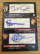 Topps Doctor Who 2015 Triple Autograph David Tennant Jack Harkness And Mickey