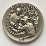 Walter Reed Longines Symphonette .999 Fine Silver Medal Round
