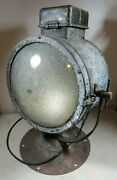 Large Vintage/antique Ge General Electric Searchlight Industrial Light Beacon