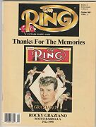 The Ring Magazine Rocky Graziano Boxing Hofer October 1990