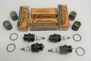 Nos 1928 1930 1931 Model A Ford Edison Spark Plugs 39t Set Of 4 1932 Ford Plug
