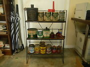 Quaker State Pennzoil Texaco Display Rack Gas Station Man Cave Plus Other Stuff
