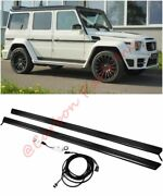 W463 Carbon Entrance Panels Side Skirts With Led Mercedes-benz G-class Any Year