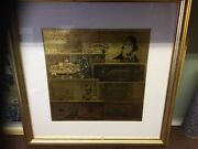 Money Montage Framed Montage Of Gold Leaved World Currency . Not Professional