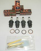 Rare Vintage Ac Spark Plugs Type 1 Long Body Set Of 4 1930and039s Ford Plug