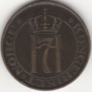 1908 Norway Haakon Vii 5 Ore | Key Date | Pennies2pounds