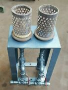 Vacuum Assist Table With Flasks For Casting High Temp Alloys