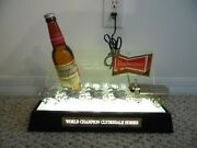 Budweiser Beer 3-d Early 60's Clydesdale Lighted Bar Back Light Works