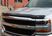 Chevy Silverado Crew Cab 2014 - 2015 Tape On Wind Deflector And Bug Shield Combo