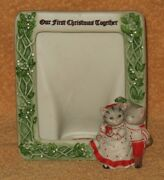 Rare Schmid Kitty Cucumber Picture Photo Frame First Christmas Together 1990