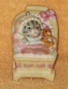 L@@k Kitty Cucumber Baby In Buggy Ornament