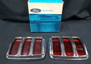 New Old Stock Ford Mustang Tail Light Lens And Bezels Right And Left Original Box