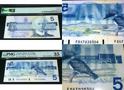 Scarce Offset Printing Error - Bank Of Canada 1986 5 - Pmg Certified