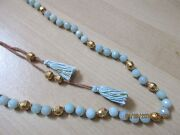 Chan Luu Nwt 4118kt Goldplated Sterling Silver Amazonite Necklace W/tassels