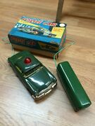Vintage Tin Battery Operated Linemar You 50and039s Police Car Box Works