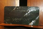 Antique National Buiscuit Company Tin Sign 4-1/2 X 9 Nabisco Very Rough