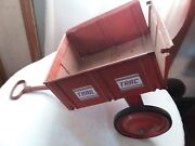 Vintage Antique Red Trail Trac Wagon Cart