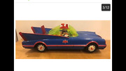 Batmobile Batman And Robin Battery Operated 1967. Works And Great Condition. See P