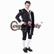 Renaissance Victorian Tudor Lord Menand039s Cosplay Costume Fancy Outfit Cape