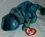 Rare Ty Beanie Baby Color/tag Mix-up Rainbow/iggy The Chameleon