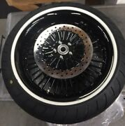 Front And Rear Motorcycle Wheel And Tire Set