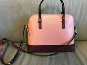 Kate Spade Grand Street Small Rochelle Colorblock Dusty Peony Rose, Mulberry New