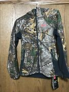 Womens Under Armour Water Resistant Fitted Jacket With Hood Real Tree Nwt's
