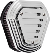 Burly Brand Chrome Hex Air Cleaner For V-twin B09-0009c Kandn Filter Made In Usa