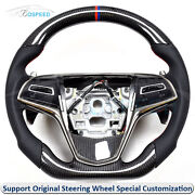 Carbon Fiber + Leather Steering Wheel With Shift Paddles For 2019 Cadillac Cts-v