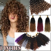 Short Crochet Water Wave Jerry Curly Thick Bobble Hair Extensions As Human Box H