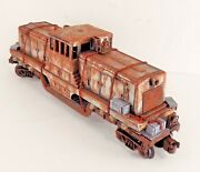 O Lionel Flat Car Diesel Shell Custom Load Barrels Boxes Crates Gift Collect