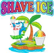 Shave Ice Decal Choose Your Size Shark Concession Food Truck Vinyl Sticker