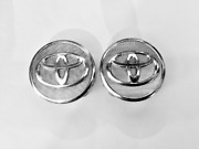 Two 2 Used Toyota Undefined Chrome/mesh Wheel Center Hubcaps Part Pc+abs Auto