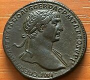 Roman Empire - Bronze Coin Of Trajan 97-117 Ad Ae Sestertius Ancient Roman Coin