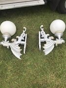 2x Big Vintage Chinese Dragon Style Exterior Wall Lights/lamps
