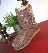 Ugg Australia Classic Short Sparkles Boots Womenand039s Size 7new