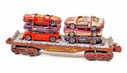 O Scale Lionel Flat Car Custom Load Collectible Junk Cars Hand Made Gift