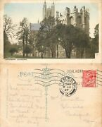 S09710 Cathedral, Canterbury, Kent, Postcard 1927 Stamp Combined Shipping