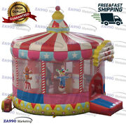15x11.5ft Inflatable Circus Clown Bounce House Carnival Moonwalk With Air Blower