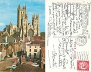 S10720 Cathedral Cars, Canterbury, Kent, Postcard 1963 Stamp Combined Shipping
