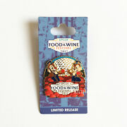Disney Pins 2013 Epcot International Food And Wine Festival Chip And Dale On Card